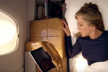 Jennifer Anniston resting on flight