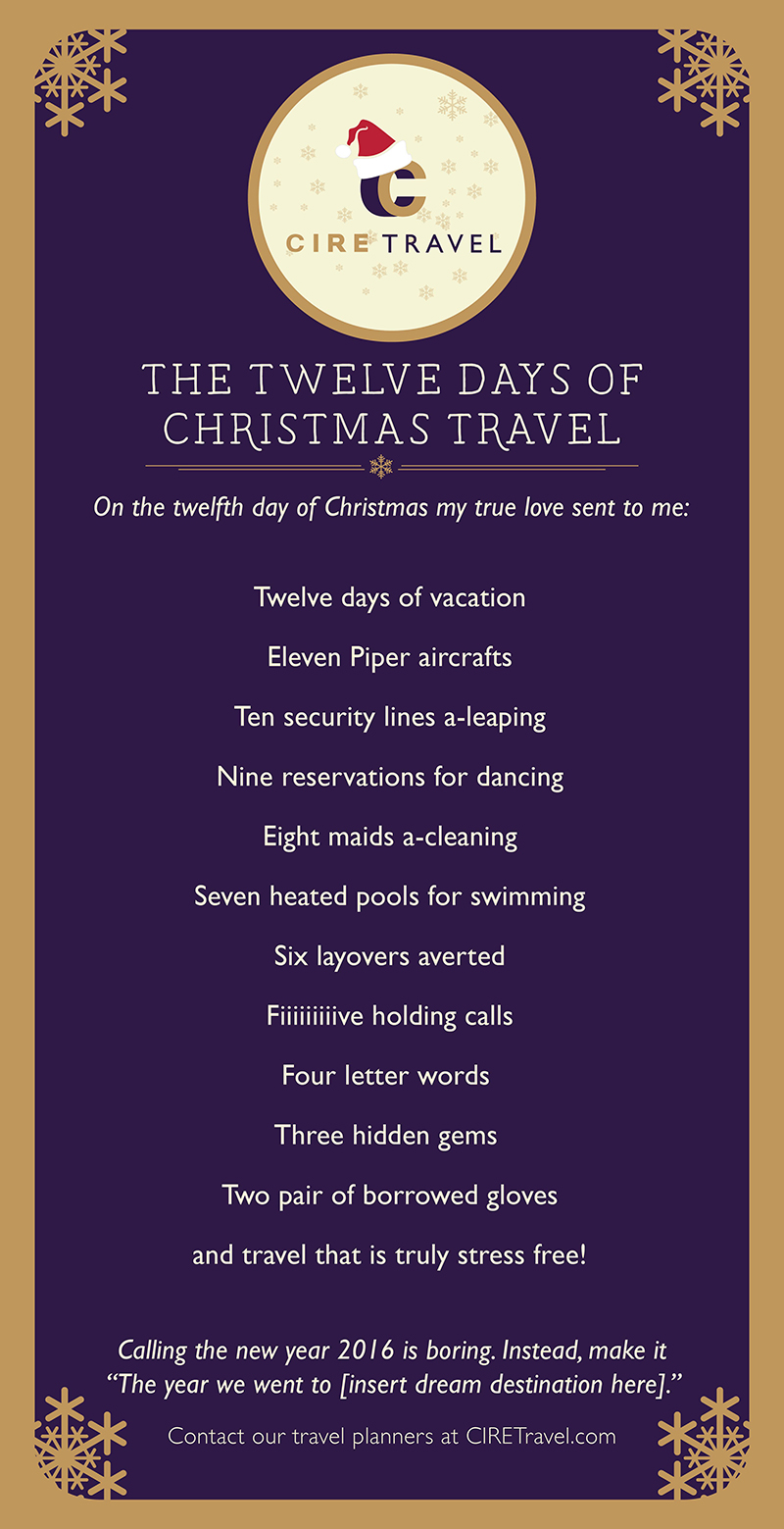 Our Version Of Caroling Travel Services Cire Travel