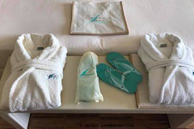 Bath robes and sandals
