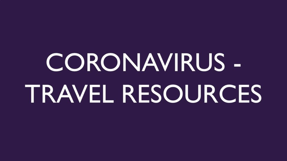 Coronavirus Travel Resources