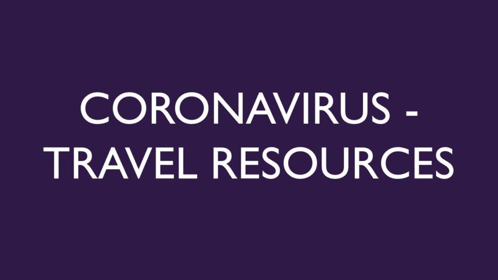 Coronavirus Travel Resources